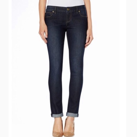 The Limited Denim - The Limited Dark Wash Skinny Ankle Jeans 0P